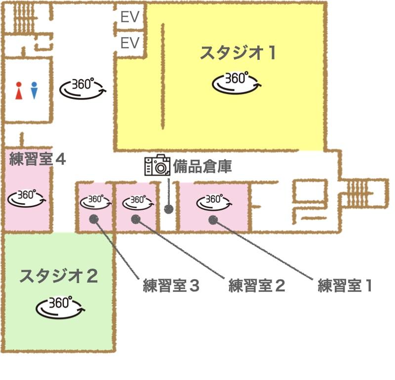 7階のフロアマップです